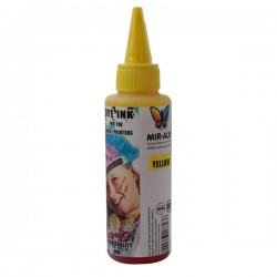 10-11 CISS Dye ink 100ml Yellow use for HP