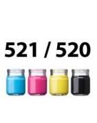 Refill ink for CLI-521BK , PGI-520BK ( Pigment) CLI-521Y CLI-521M CLI-521C cartridge